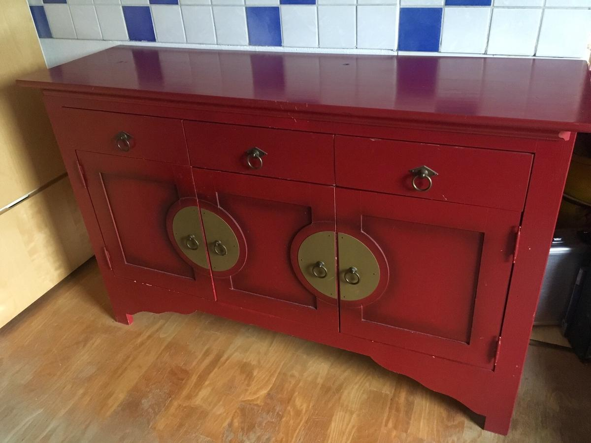 Kommode Rot Kommode China, Asia, Sideboard, Rot In 4060 Leonding For €75.00 For Sale | Shpock