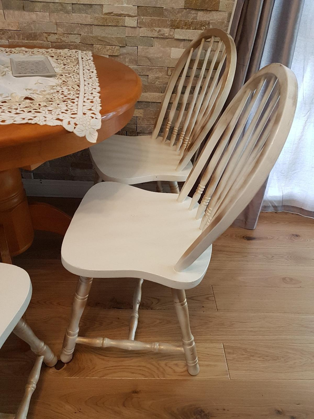 Refurbished Chairs Round Extending Dinning Table With Chairs