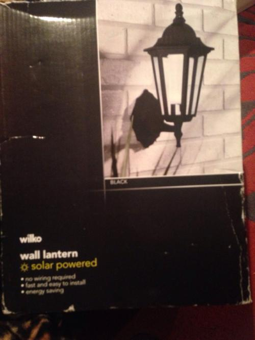 small resolution of description brand new solar powered wall lantern