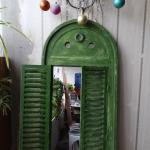 Wooden Garden Mirror With Shutters In Se17 London For 23 00
