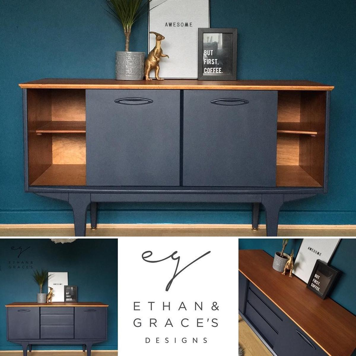 Sideboard Modern Pro Painted Jentique Compact Sideboard Blue In Se19 Croydon For £499.00 For Sale | Shpock