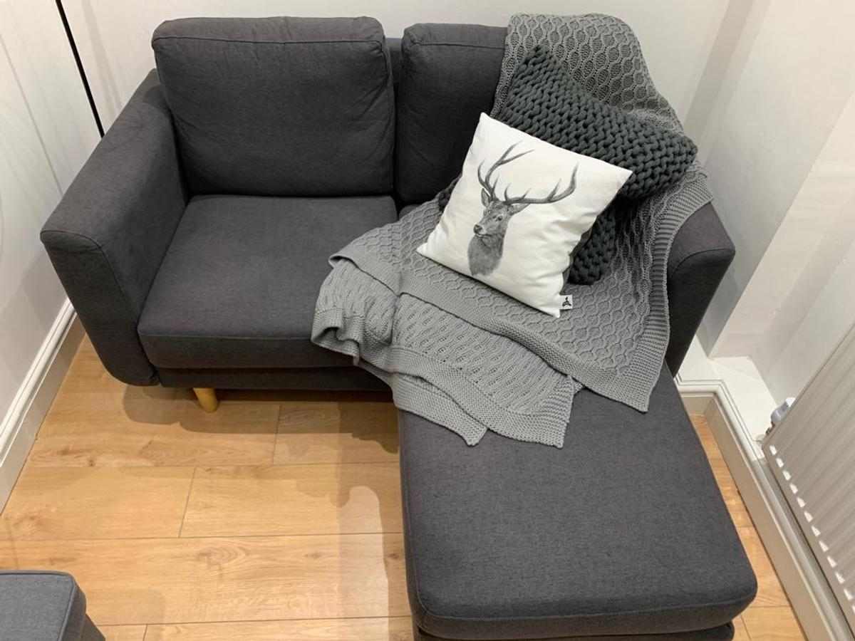 argos home remi 2 seater fabric chaise