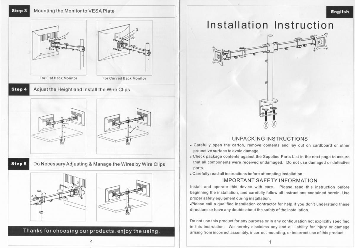hight resolution of description double monitor display mount