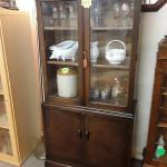 Vintage Oak Glass Door Bookcase In Sk15 Stalybridge For