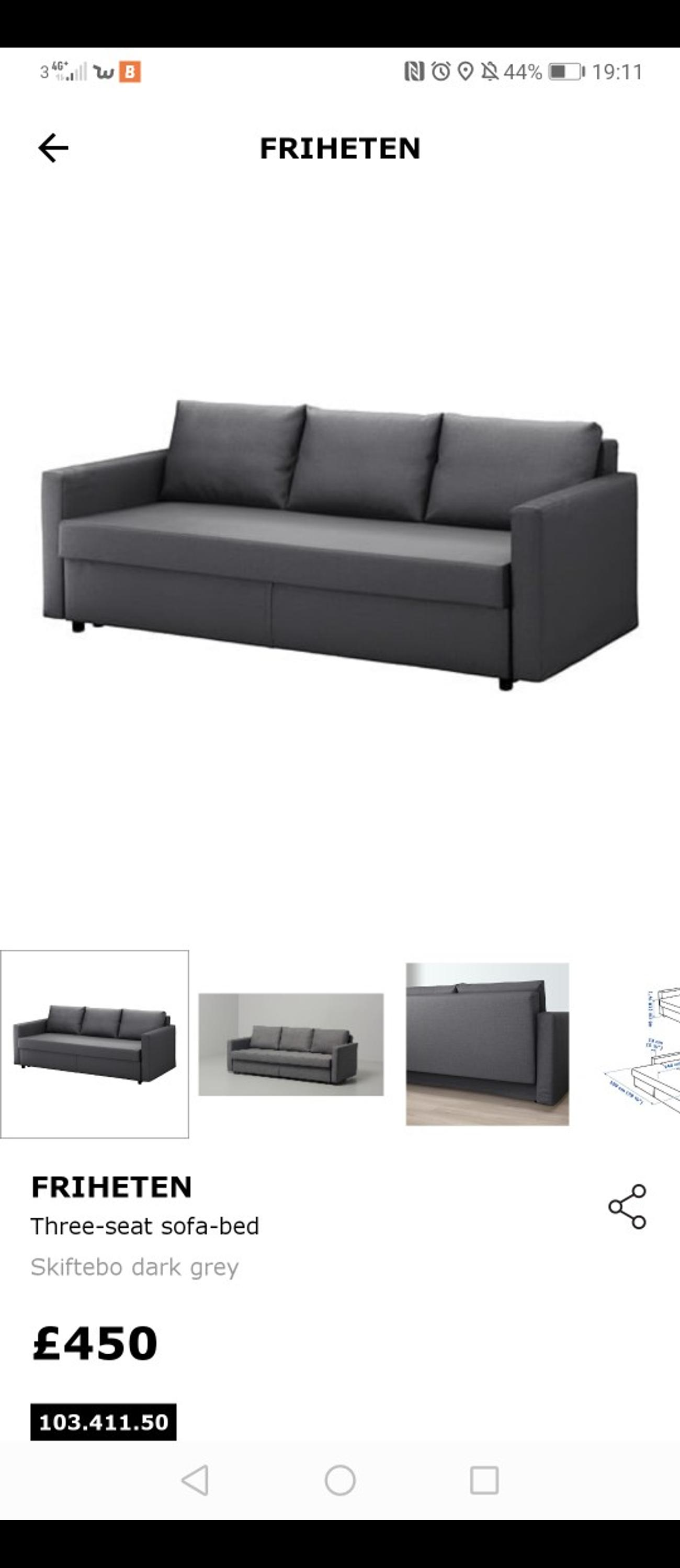 Ich designer when you're hunting for affordable furniture that works in ever. FRIHETEN Ikea grey 2-seat sofa bed in E9 London for £200 ...