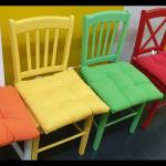 4 Bunte Holzstuhle Top In 73116 Waschenbeuren For 160 00 For Sale Shpock