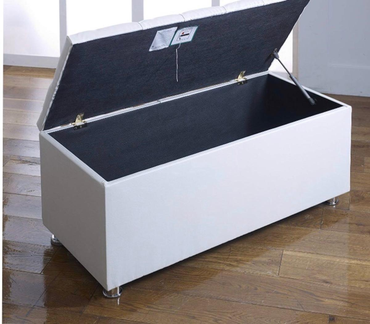 brand new ottoman storage box white