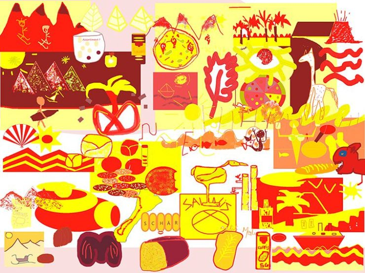 Fresque Télétravail digitale outil de cohésion webinaire.games par ana artiste