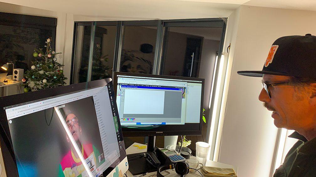 Activité Visioconférence Télétravail fresque virtuelle digitale à distance ana artiste pour séminaire et team building en distanciel sur webinaire.games online outil de leadership digital