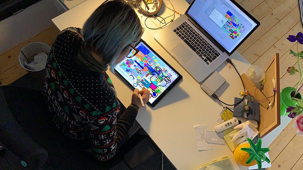 Idée Animation Virtuelle Fresque Digitale aNa artiste d'art social