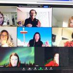 Comment dessiner ensemble à distance lors d'un événement team building digital virtuel en télétravail avec aNa artiste sur webinaire.games