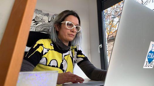 événement à distance par aNa artiste fresque d'art social digitale pour management et cohésion en télétravail