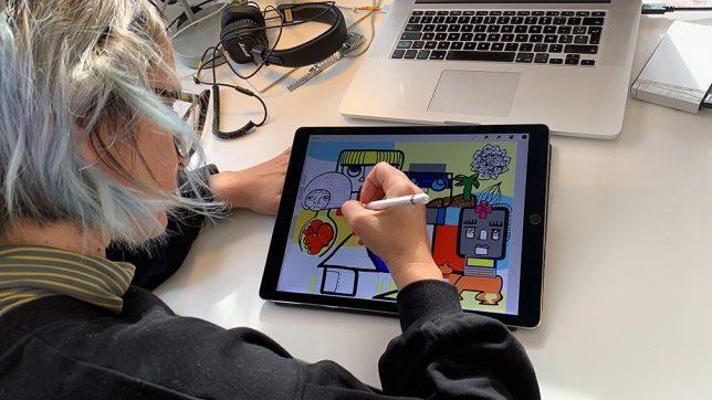 œuvre Collective Fresque Digitale à Distance Animation Team Building Télétravail