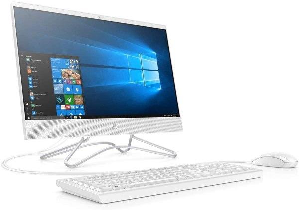 HP 22-C0020NE All-in-One Home PC (Intel Core i5-9400T Processor, 8GB Memory, 1TB Hard Disk, DVD-RW, 21.5-inch FHD Display , 2GB NVIDIA Graphics, WLAN + Bluetooth + Camera, Windows 10 Home, White)