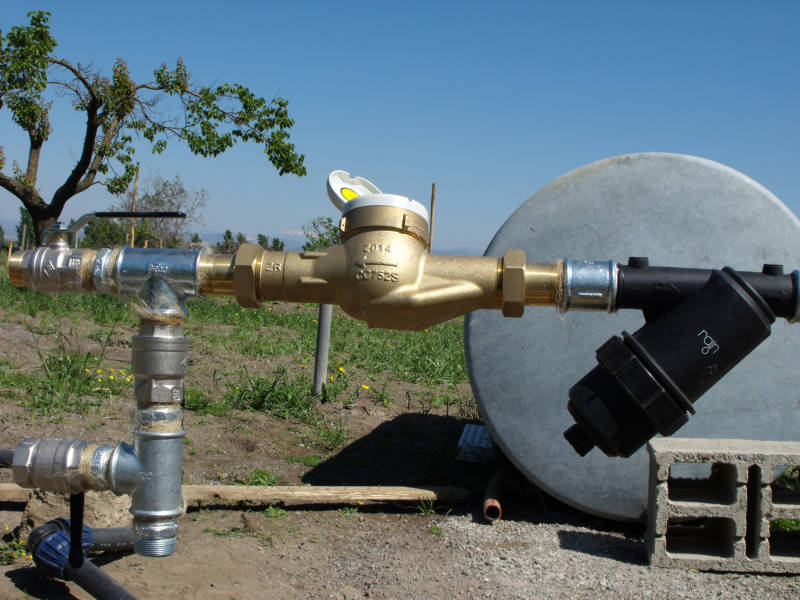 Foto filtro a rete per acqua di pozzo