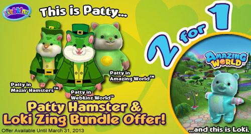 patty hamster loki zing bundle