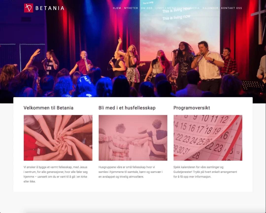 Nettside for Betania Sokndal