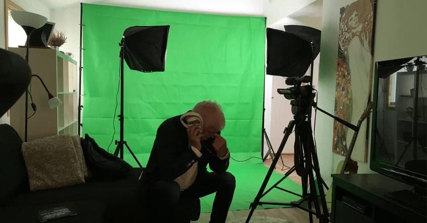 Jon Ivar Johansen fra Marsmallow Group i studio