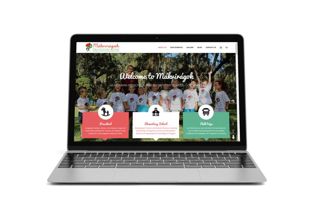 Mákvirágok – web design