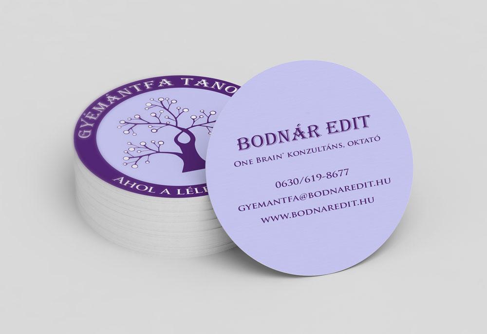 Gyémántfa business card