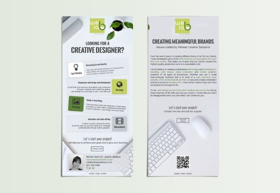 Weblab Creative Solutions flyer