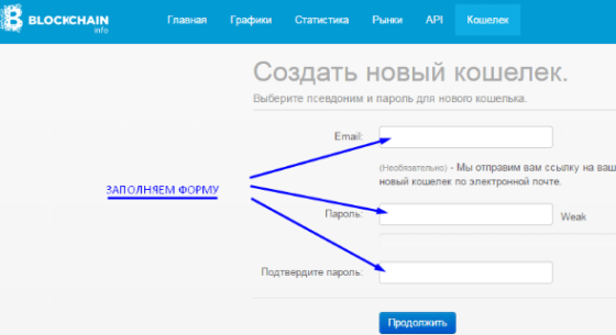 Регистрация кошелька Биткоин