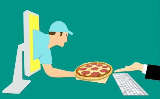 Рисунок на тему доставки еды из интернет