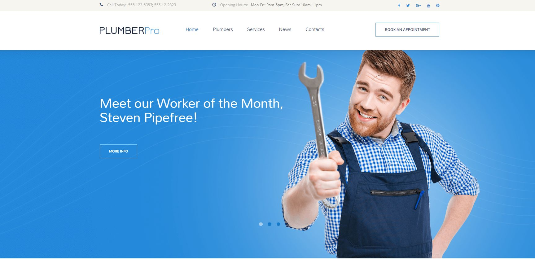 Plumbing Services Responsive WordPress Theme