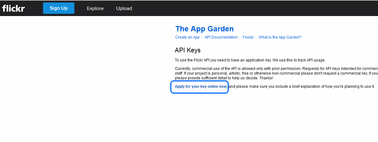 flicker-apply-for-your-api-key