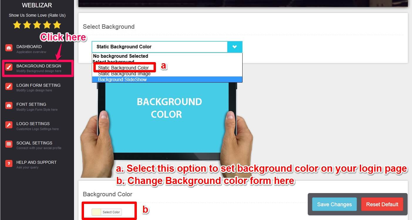 Background Color Settings Write Default Of The Web Page In Print Without