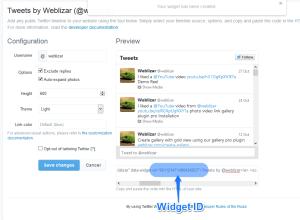 twitter widget id