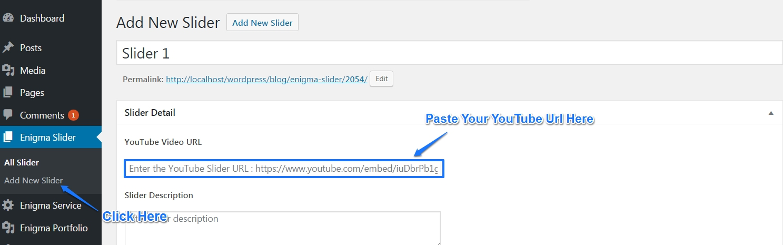 youtube video url add