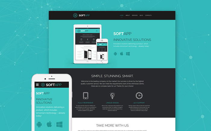 Software Company Website Template
