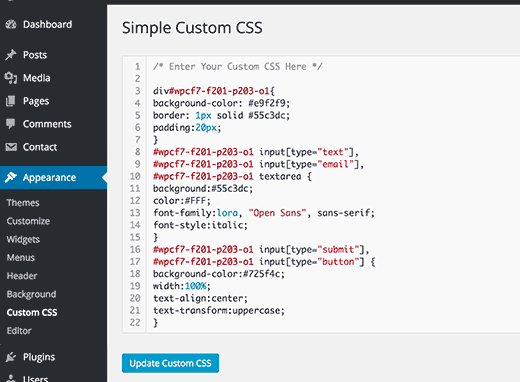 custom-css-plugin-How-To-Customize-WordPress-site-By-Adding-Custom-CSS
