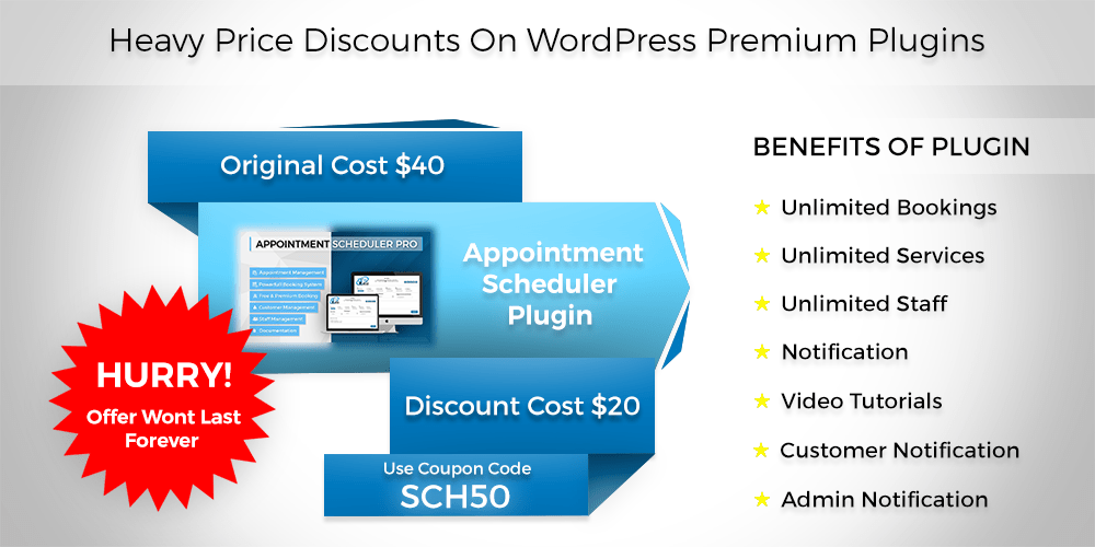 Heavy Prices Discounts On WordPress Premium Plugin