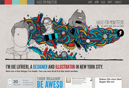 hugsformonsters-illustrated-web-design
