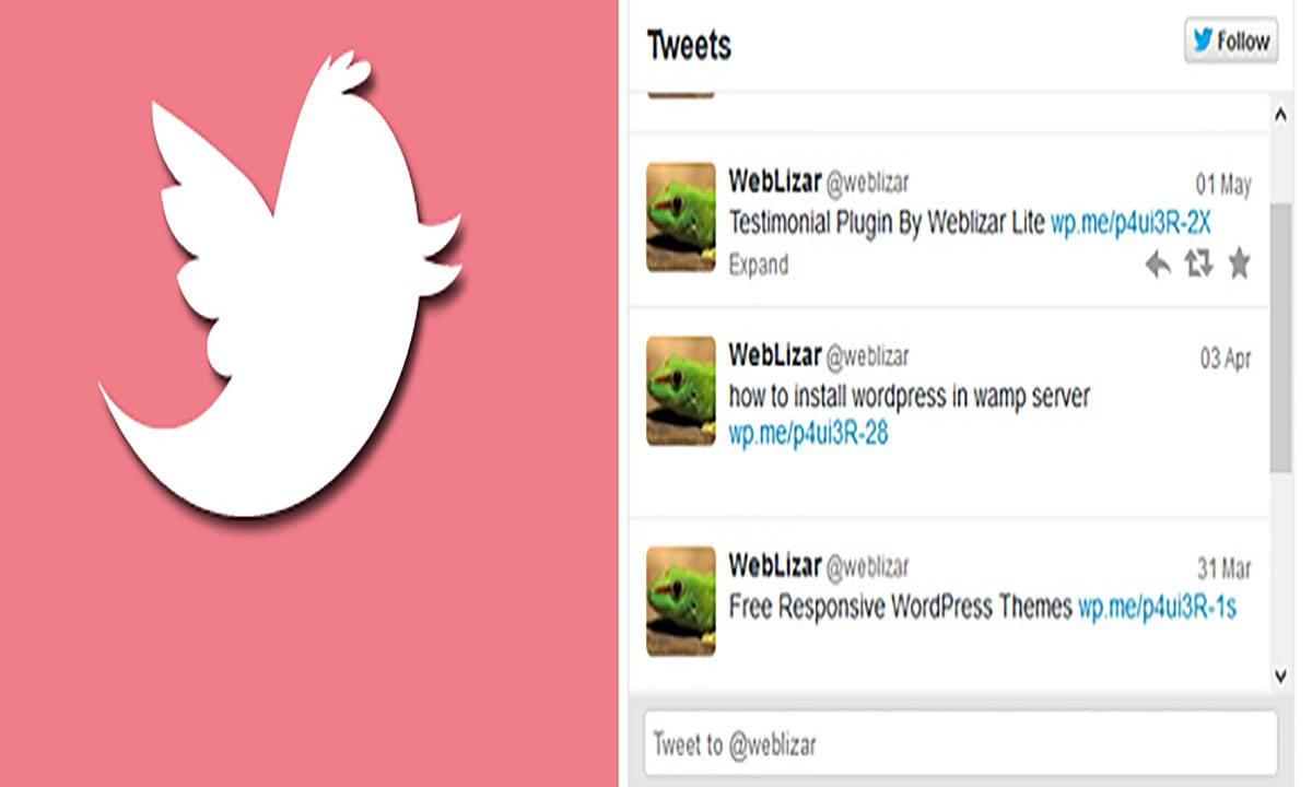 Image of twitter tweets wordpress plugin