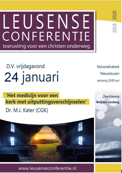 Lezing Leusense Conferentie vrijdag 24 januari 2020