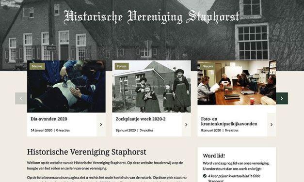Nieuwe website voor Historische Vereniging Staphorst
