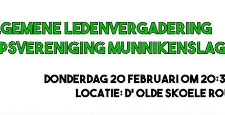 Algemene ledenvergadering dorpsvereniging Munnikenslag