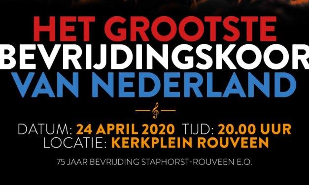 24 april: Het Grootste Bevrijdingskoor van Nederland! in Rouveen