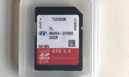 Gevonden, navigatiekaartje Hyundai Tucson