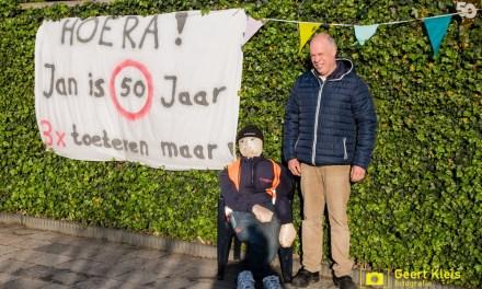 Jan Tippe 50 jaar,  doorrijdfelicitatie in Punthorst