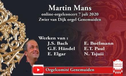 Luister straks om 20.00 uur naar Martin Mans Orgelconcert