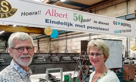 Albert Domine na 50 jaar 'GS Meppel' met pensioen
