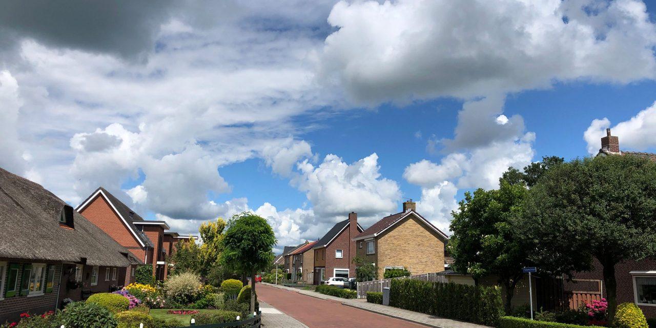 Mooie lucht boven Staphorst-Noord