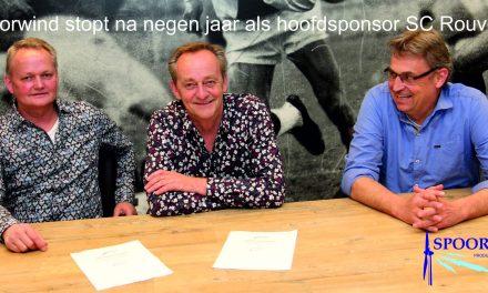 Spoorwind stopt na negen jaar als hoofdsponsor SC Rouveen