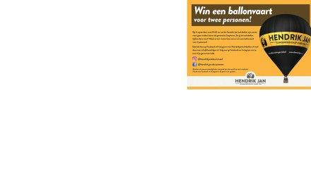Win een ballonvaart voor 2 personen met Hendrik Jan