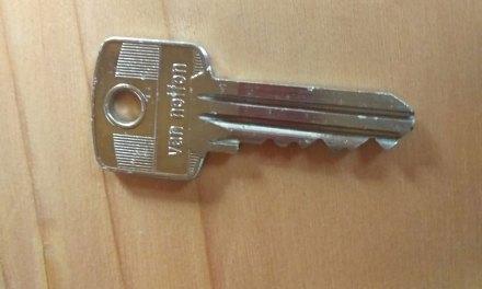 Sleutel gevonden aan de Bergerslag