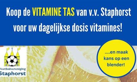 Koop de VITAMINE TAS van VV Staphorst, reserveren is ook mogelijk